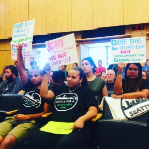 Climate justice activists urge Seattle City Council to adopt Green New Deal resolution