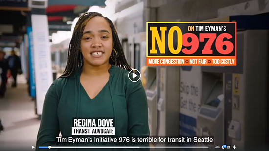Seattle transit advocate says vote no on I-976