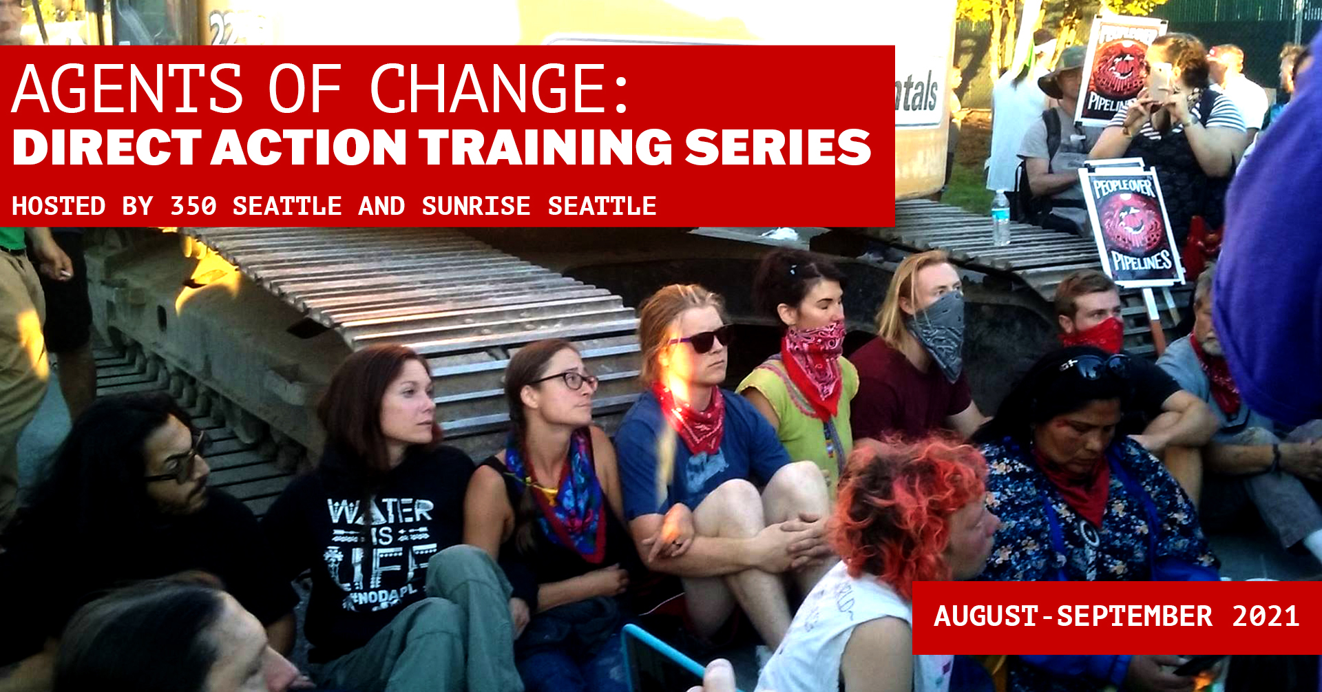 banner image for Agents of Change 350 Seattle Direct Action Training Series